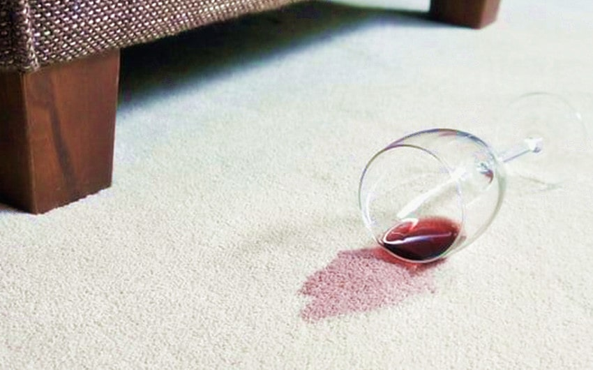how to get red wine out of the carpet