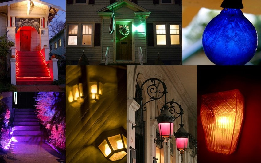 porch light color meaning